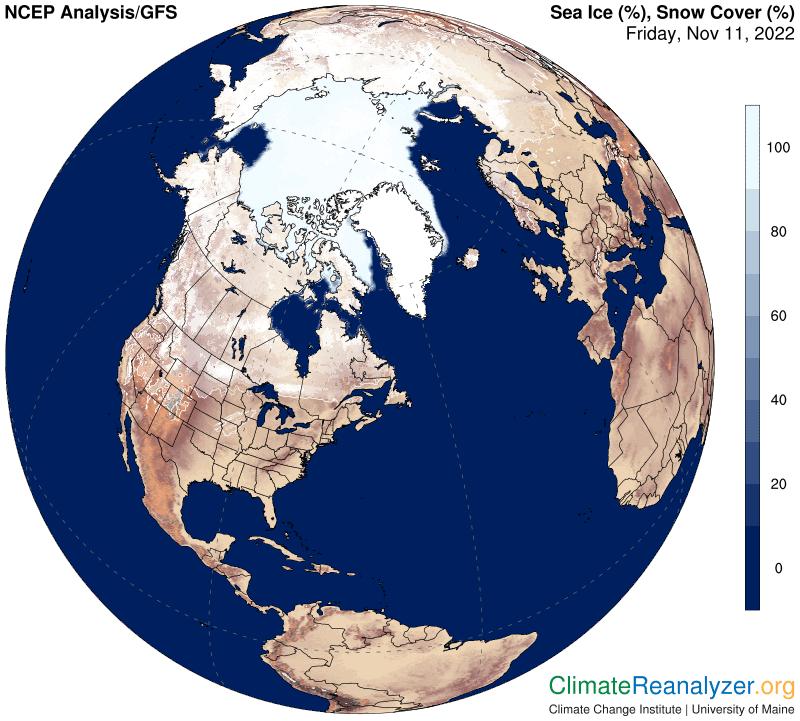 Snow/Ice cover N. Pole