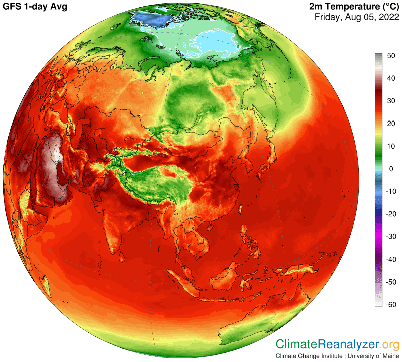 Live Global Weather Map.Climate Reanalyzer