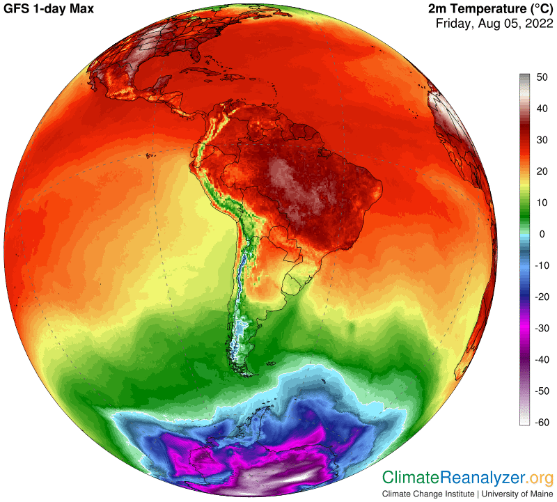 Temperature massime in America Centrale