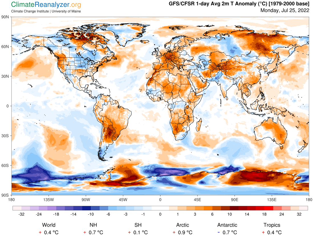 Weather Map - 2m World Temperature Anomaly [1979-2000 base]
