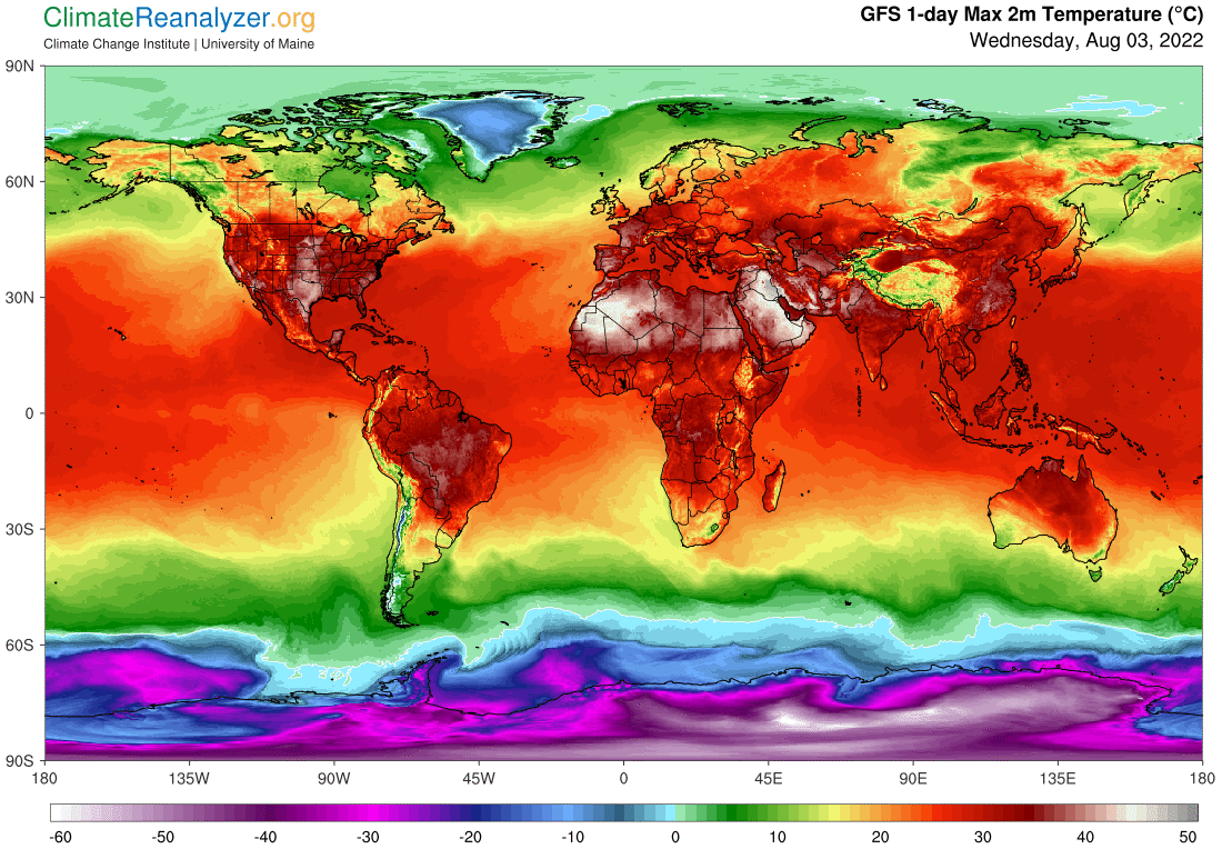 Global Meteo Overview - today data - #Earth #weather (Raport meteo Pamant - Astazi)